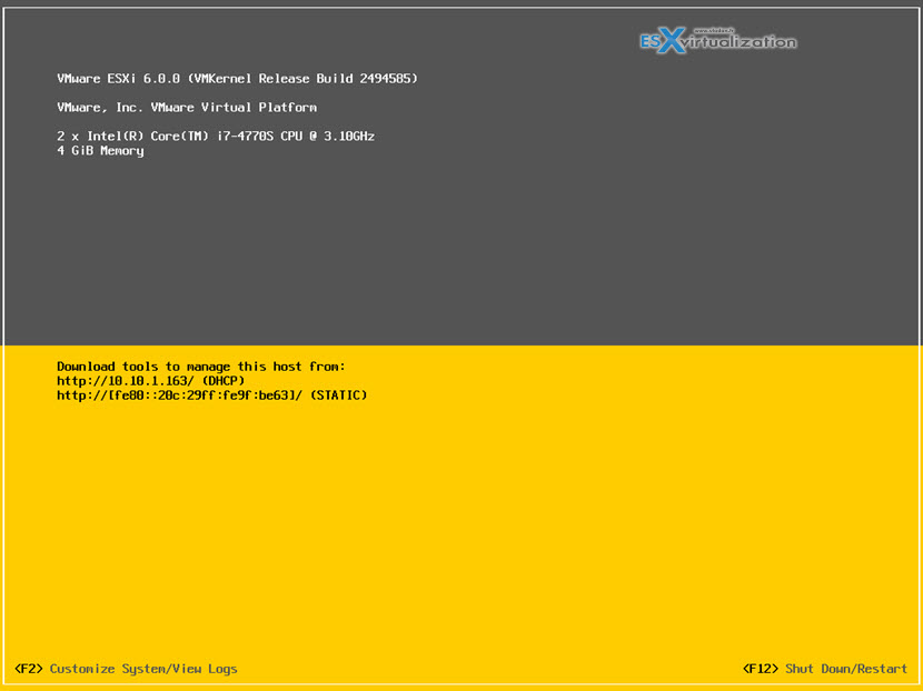 Upgrade your existing installation of ESXi 5.x via ISO