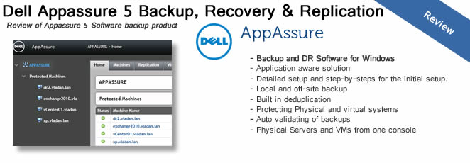 Dell Appassure 5 Backup, Replication & Recovery Software Review