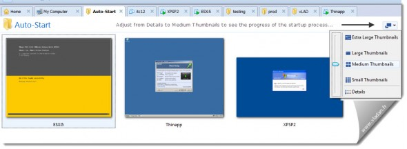 While there, configure those live thumbnails where you can see the startup process - VMware Workstation Tip