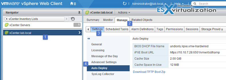 vSphere How to configure Autodeploy server