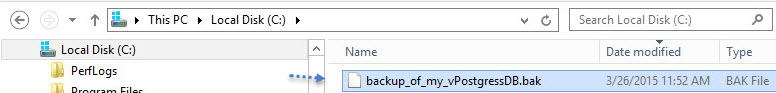 vSphere 6 - How to backup vCenter 6 vPostgress Database on Windows