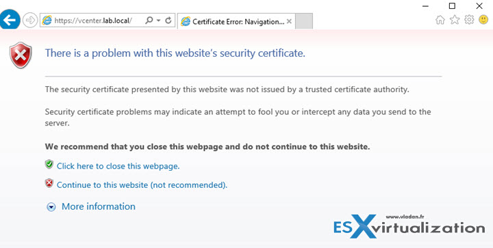 Stop the Self-Signed Cert warning when connecting to vCenter