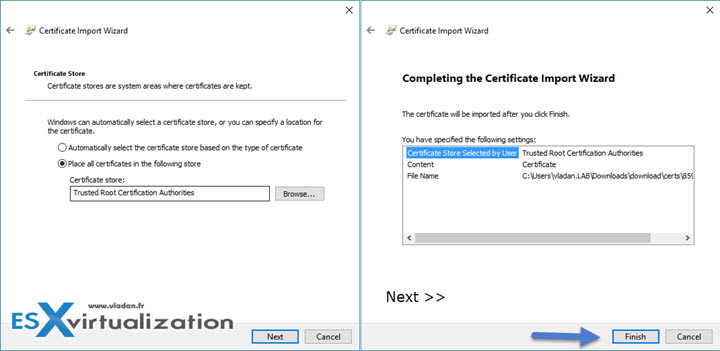 How to Stop the Self-Signed Cert warning when connecting to vCenter