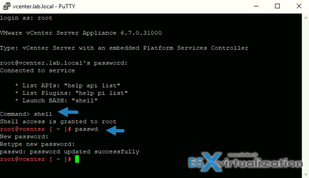 Appliance (OS) root password is expired - vSphere 6 7   ESX