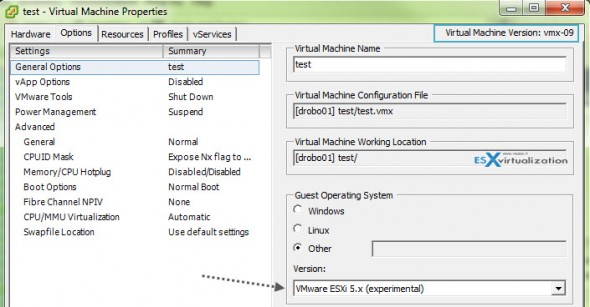 change to esxi5.x 590x307 How to check if your host is capable to run nested ESXi