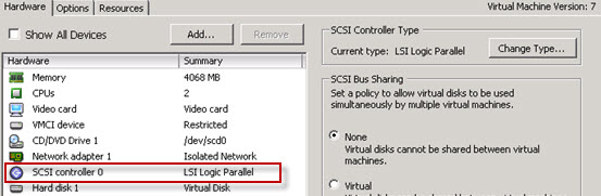 How to change virtual SCSI controler for VMware PVSCSI | ESX