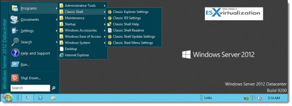 classic menu 590x214 Cool Start Menu for Windows 8 and Windows Server 2012