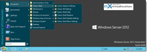 Classic Start Menu for Windows 8 and Windows Server 2012
