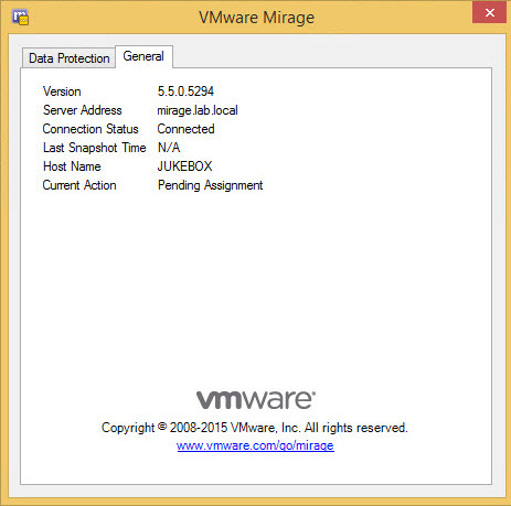 VMware Mirage client install and centralize
