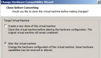 Downgrading Virtual Hardware with VMware Workstation 10