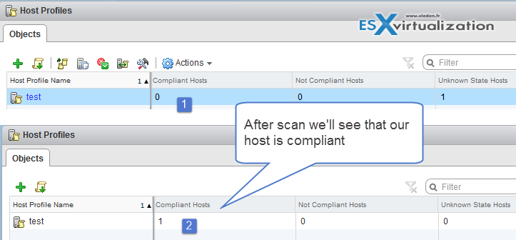 How to check Host profile compliance
