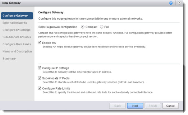 VMware vCloud Director 5.1 - configuring edge gateway