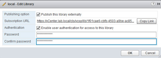 Content Library Authentication