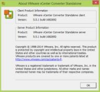 VMware Converter Standalone 5.5.1