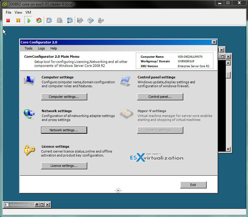 Core configurator 2.0 - GUI tool for Windows Server 2008R2