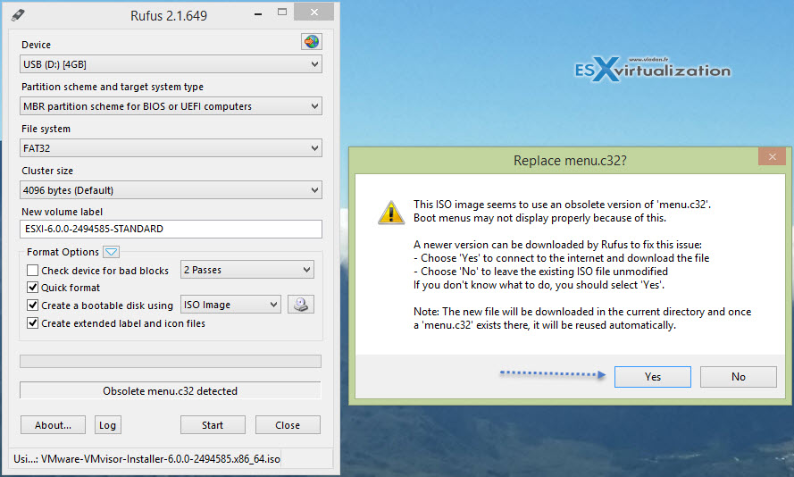 Install ESXi 6 to USB as Destination or Have it as Source