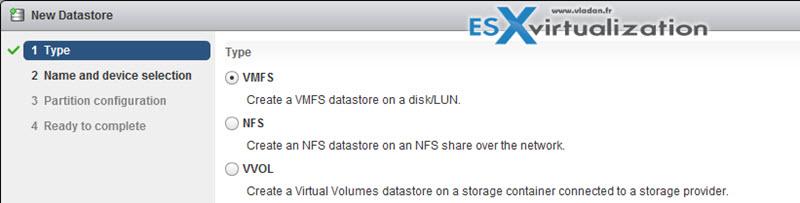 Create VMFS Datastore