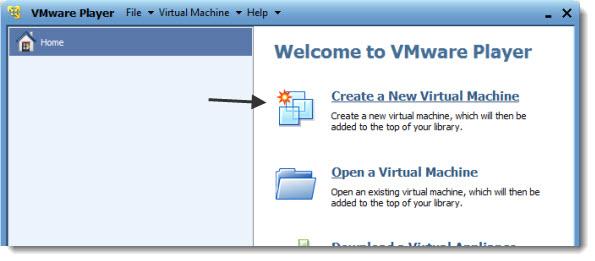 Create New Virtual Machine with VMware Player