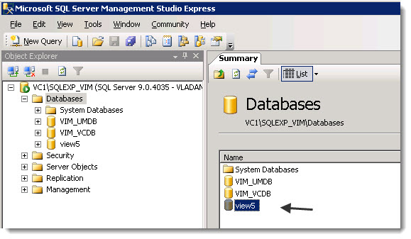 How to create VMware View Database and ODBC connection