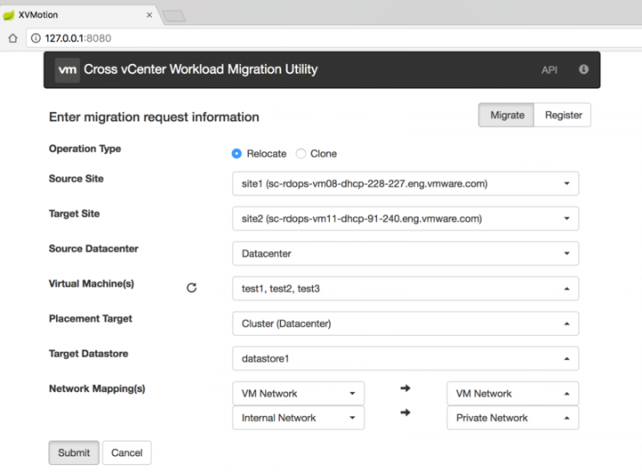 cross vcenter workload migration
