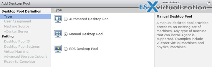 Desktop Sources - VCP6-DTM Objective 3.3 - Configure Manual Pools