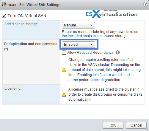 VSAN Deduplication and Compression