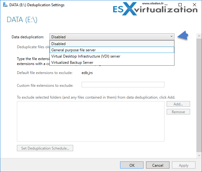 Windows Server 2016 - How to configure Deduplication