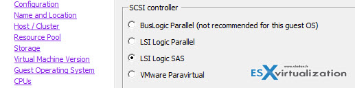 How-to safely change from LSI logic SAS into VMware Paravirtual