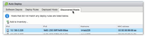 VMware AutoDeploy - new Discovered Hosts