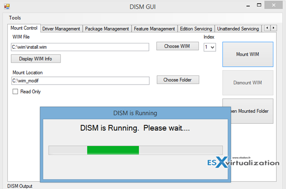 DISM GUI 4.0 - Free tool to manage WIM images