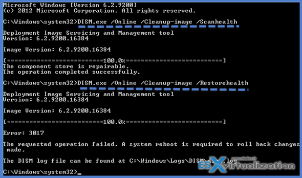 Failure configuring windows updates reverting changes Windows 8, 8.1 and Windows Server 2012