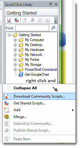 Download community PowerShell Scripts