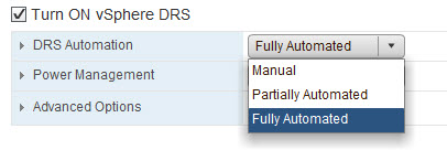 DRS Automation Levels