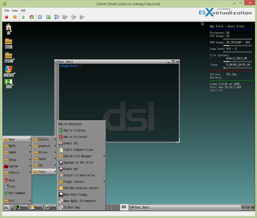 Top Three Lightweight Linux VMs for VMware vSphere Lab
