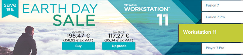 VMware Earth Day Sale - Save 15% !!!