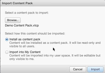 You can now import content pack for Editing