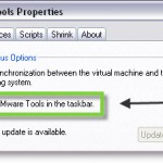 Interresting KB about re-appearing the VMware tools icons in the taskbar