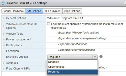 VMware vSphere 6.5 - encrypted vMotion