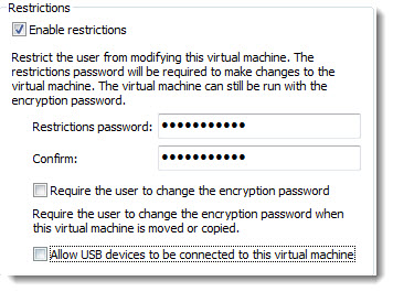 encryption VM possibilities How to restrict VMs in VMware Workstation 9