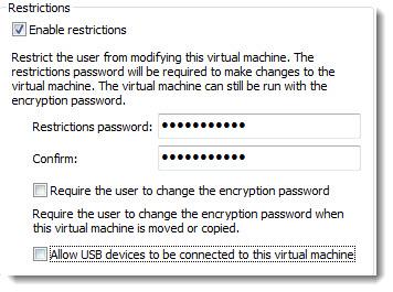How-To restrict Virtual Machine in VMware Workstation 9