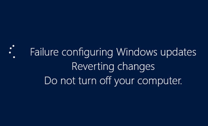 failure configuring windows updates reverting changes windows 8.1