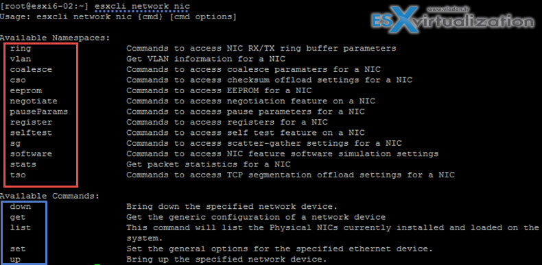 ESXi Commands List - networking commands | ESX Virtualization