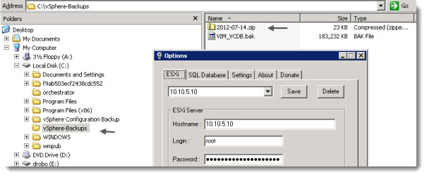 ESXi Configruation Backup - Free Tool for VMware ESXi
