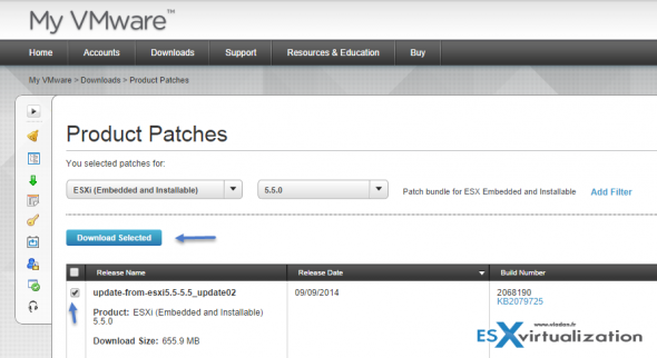 How to patch ESXi standalone