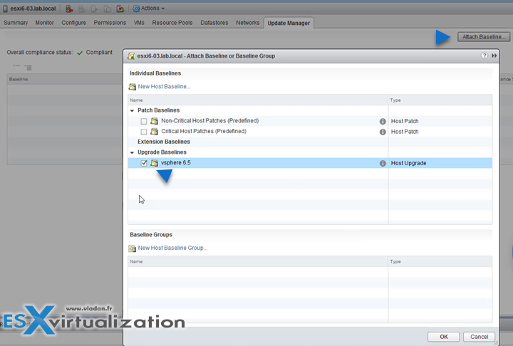 upgrade esxi 6 to 6.5 with update manager