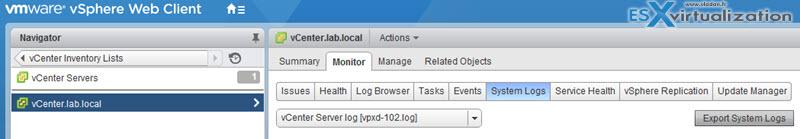 Collect ESX/ESXi and vCenter Server diagnostic data