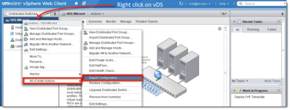 VMware vSphere 5.1 - Export vDS configuration