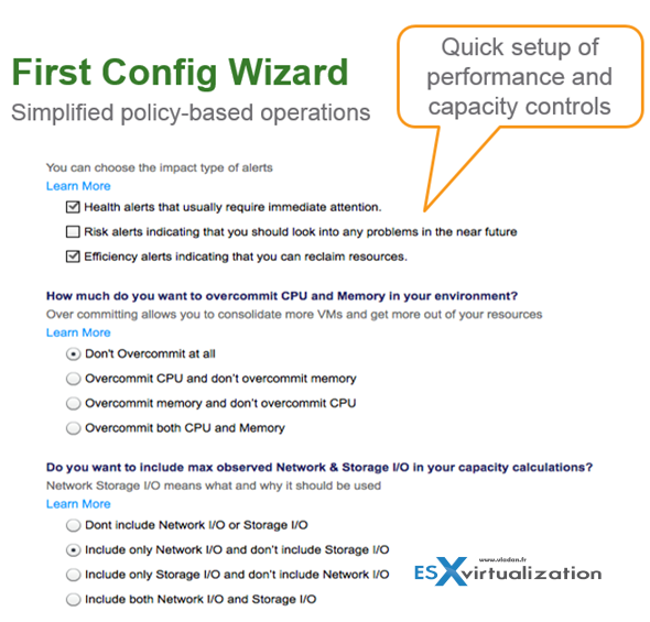 vROPS First Config Wizard