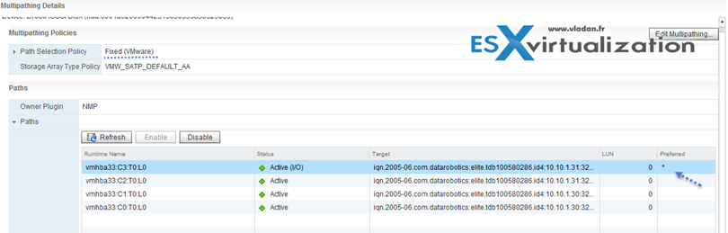 Path selection policy VMware vSphere 6