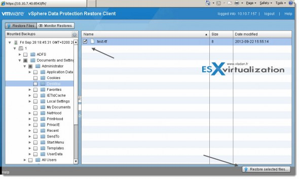 flr restore3 590x353 vSphere Data Protection (VDP)   restore operations